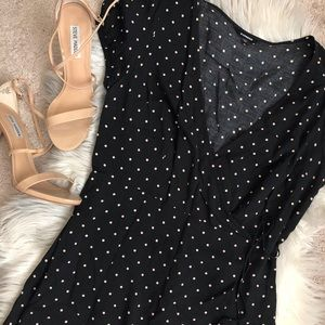 Express polka dot long dress